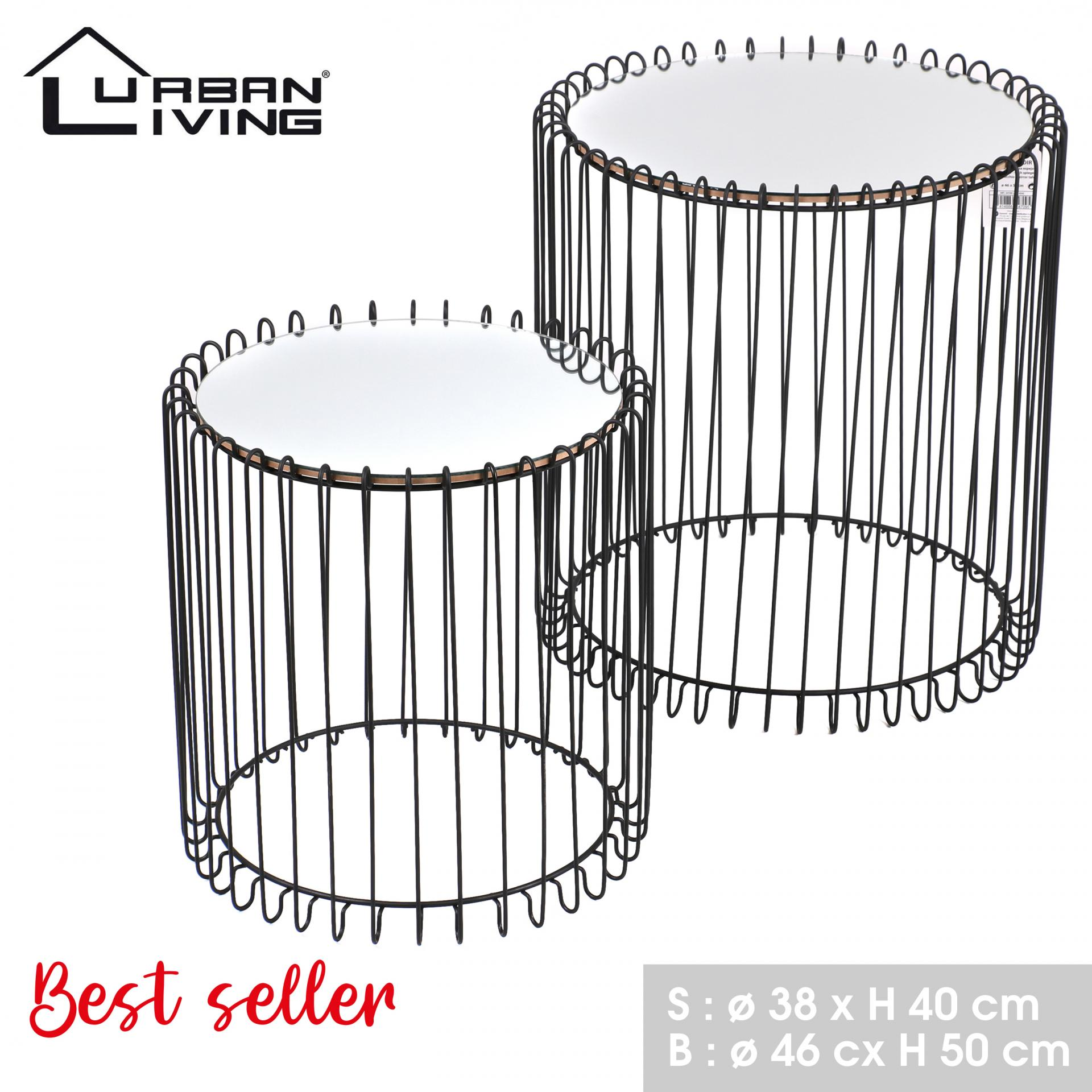 Tables miroir noir 54709